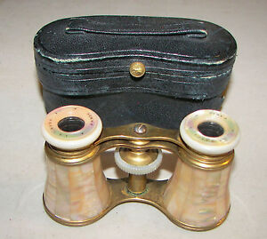 Antique French Lemaire Mother Of Pearl Opera Glasses C  S