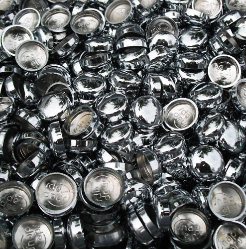 50 HIGH QUALITY ELECTROPLATED CHROME SCREW COVER CAP