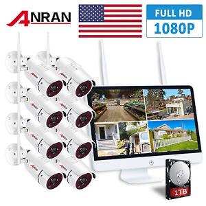 ANRAN-15-034-LCD-8CH-NVR-Wifi-Security-Camera-System-2TB-HDMI-1080P-HD-Night-Vision