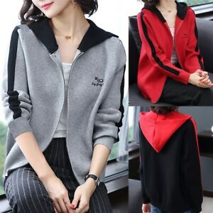 Women-Long-Sleeve-Hoodie-Hooded-Zip-Up-Jacket-Sweatshirt-Jumper-Coats-Plus-Size