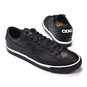 nouveau style 92c8e feb38 Details about NWT Comme des Garcons Black Nike CDG Blazer Low Sneakers  Shoes DS 2016 AUTHENTIC