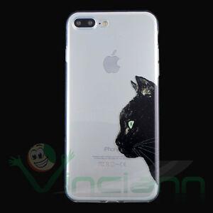 Pellicola Custodia Gatto Nero cover sottile p iPhone 7 Plus 5.5 ...