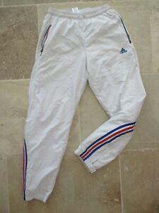 Détails sur Pantalon ADIDAS blanc équipe de FRANCE sport collection 174 M D 5