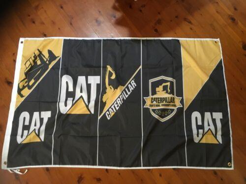 Caterpillar earthmoving wallhanging Mancave flag mancave idea Home decor idea