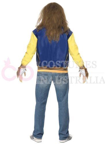 Licensed Mens Teen Wolf 1980s Costume 80s Movie Halloween Werewolf Fancy Dress