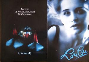 PUBLICITÉ DE PRESSE 1989 LOULOU LE NOUVEAU PARFUM DE CACHAREL