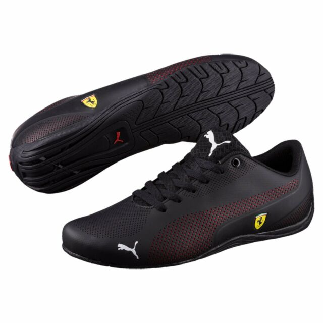 NIB Men's Puma FERRARI SF DRIFT CAT 5 ULTRA Shoes Black 305921