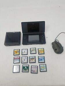 Nintendo-DS-Lite-BLACK-Handheld-System-with-12-Games-LOT-BUNDLE-mario-party-8-C