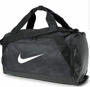 Nike Brasilia Size SMALL Duffel Bag Gym Travel BA5433 010 Black Gray ... eaf7b7427edf5