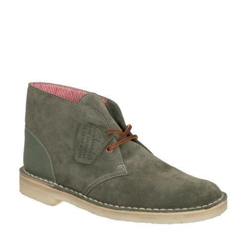 Clarks Originals Herschel Green Combi Pelle Chukka Desert Boot Style#26105645