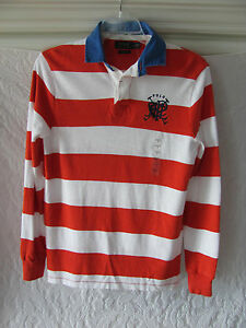 Image Is Loading Polo Ralph Lauren Rugby Shirt Prl Logo Orange