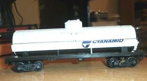 VINTAGE-Older-Bachmann-HO-Scale-Train-White-Cyanamid-Tanker-Car