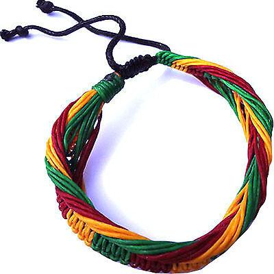 Rasta Bracelet Wristband Bangle Mens Womens Boy Girl Ladies Bob Marley Jewellery