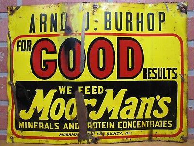 Quincy Illinois Moorman/'s moormans Feed Advertising keychain wormer nice htf