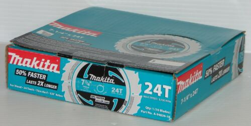 "Framing 10pk New Makita A-94839-10 7-1//4/"" 24T Carbide-Tipped Circular Saw Blade"