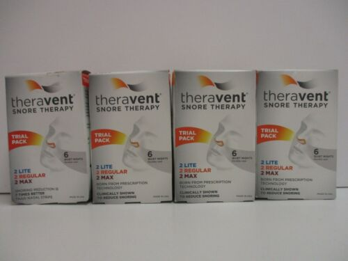 4 x THERAVENT SNORE THERAPY TRIAL PACK 2 LITE 2 REGULAR 2 MAX SEALED NT 2770