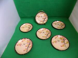 Japanese Eggshell Porcelain Signed Dai Nippon 19 Century Saucers x 6
