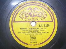 "JOHNNY HAMP & HIS ORCHESTRA F T 8280 INDIA INDIAN RARE 78 RPM RECORD 10"" VG+"