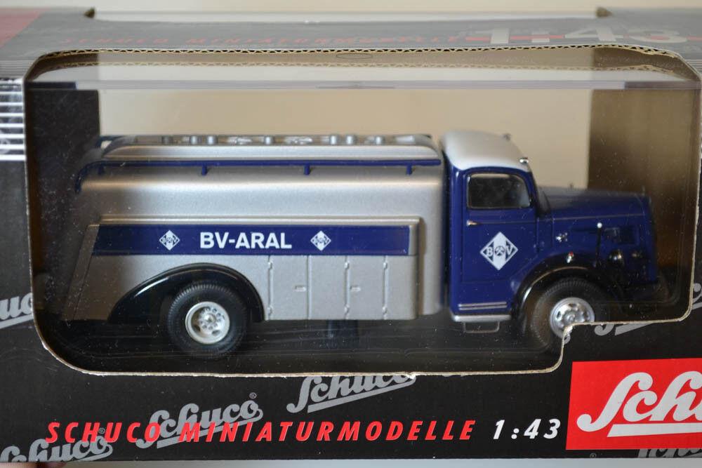 Schuko bv aral mercedes benz l 6600 tankwagen 1 43 Neu & OVP (54)