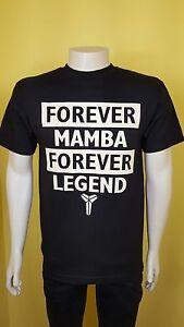 fwzwwj Forever Mamba Black T-SHIRT Forever Legend TEE Kobe Bryant MAMBA