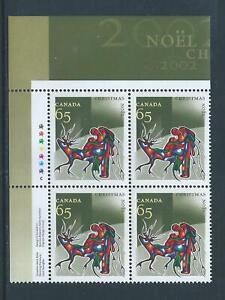 Canada #1966 Christmas (Aboriginal Art) UL Plate Block MNH
