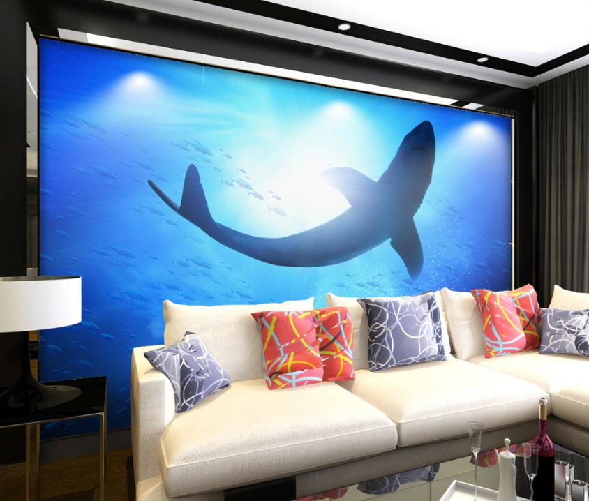 3D Sunshine Dolphin  7 Wall Paper Murals Wall Print Wall Wallpaper Mural AU Kyra