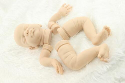 Lifelike Full Solid Soft Silicone Handmade DIY Kits For Bebe Reborn Baby Doll US