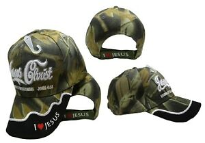 5b82386f Details about Jesus Christ Eternally Refreshing Camo Camouflage Embroidered  Cap CAP818A Hat
