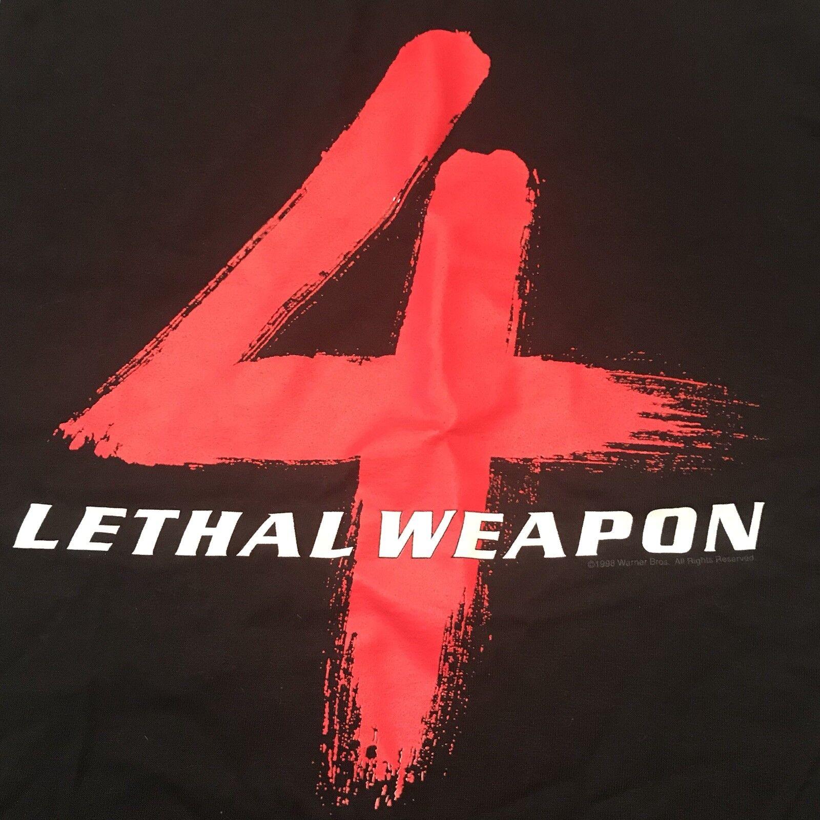 Vintage LETHAL WEAPON 4 Promo T Shirt XL 1998  RARE  Film starring Mel Gibson