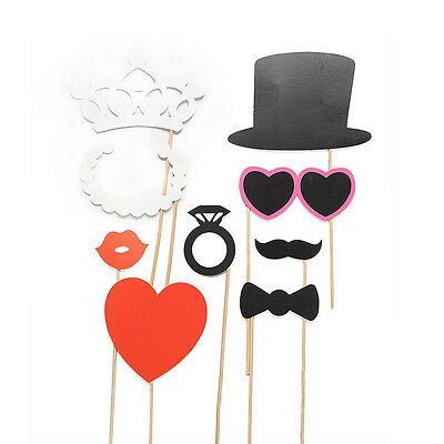 8PCS Party Face Masks Photo Booth Gatsby Props Mustache Wedding Birthday Favor