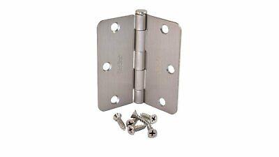 New 4 Brushed Nickel Cabinet Door Hinges Craftsman Butterfly Solid Steel