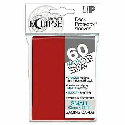 6c31bb00614c Ultra Pro Matte Eclipse Apple Red Small Deck Protector Sleeves 60ct  Ulp85830 for sale online | eBay