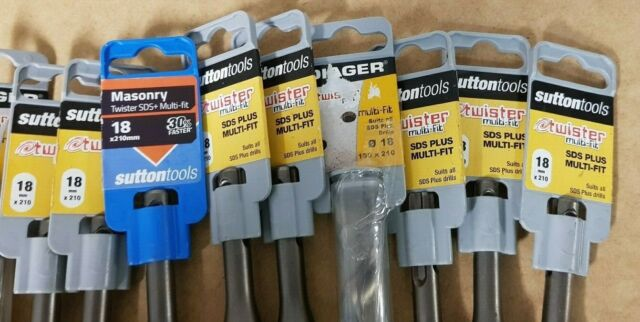 DIAGER /SUTTON TWISTER SDS MultiFit Masonry Drill Bits 5 - 20mm Sizes CHEAP #144