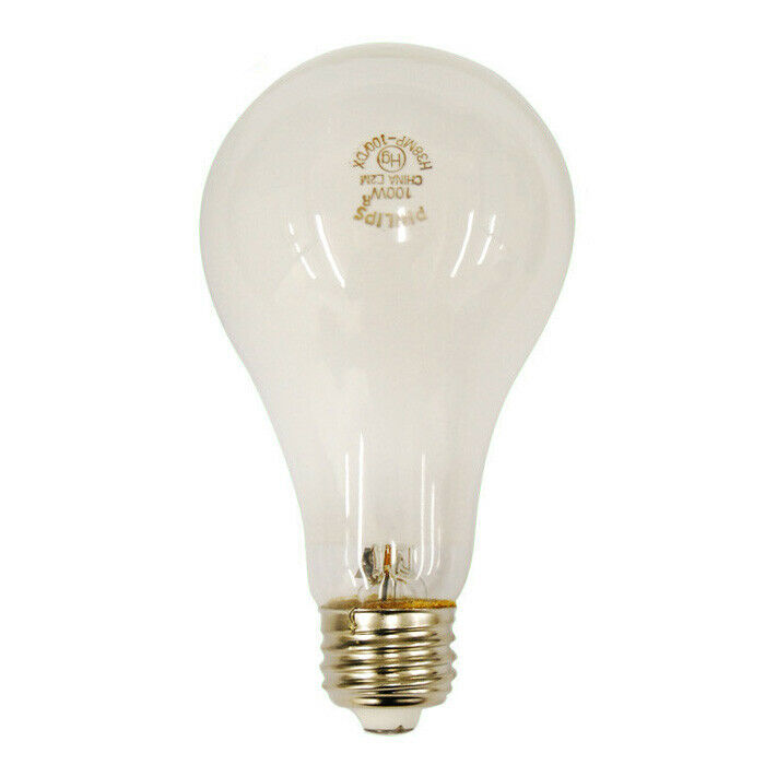 Philips H38MP-100DX 100w A23 3700K Cool White Mercury Vapor HG HID Light Bulb