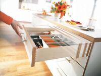 Blum Drawer Slide,undermount,soft Close,full Ext,3/4 Box W/lock & Rr Brkt B563f
