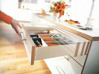 Blum Drawer Slide,undermount,soft Close,full Ext,3/4 Box W/lock & Rr Brkt B563f