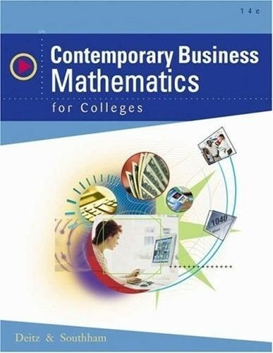 Contemporary Business Mathematics for Colleges (with CD-ROM), Very Good Books