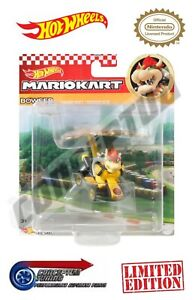 Mario Kart Hot Wheels Glider Toy Cars - Bowser Standard Kart & Bowser Kite