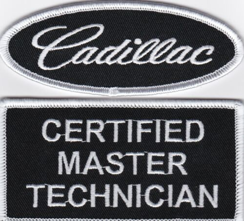 CADILLAC CERTIFIED MASTER TECHNICIAN SEW//IRON ON PATCH EMBLEM BADGE EMBROIDERED
