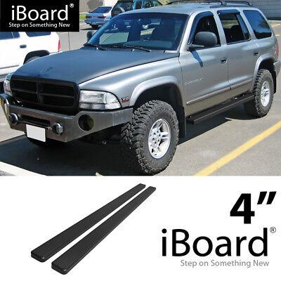 "4/"" Black iBoard Running Boards Nerf Bars Fit 98-03 Dodge Durango"