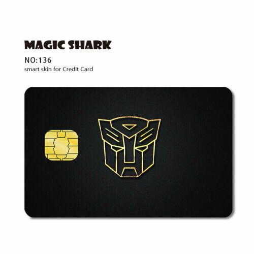 Credit Card SMART Sticker skin protector pre-cut small chip FRONT ONLY