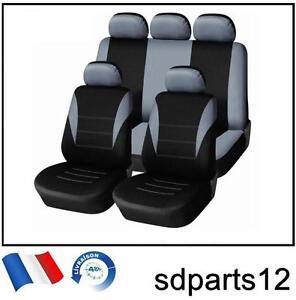 Peugeot-307-308-407-206-207-Housses-Couvre-Sieges-9-Pcs-Gris