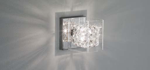LAMPADA DA PARETE APPLIQUE MODERNO IN CRISTALLO e vetro 1 luce