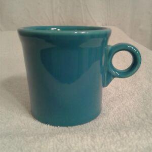 Fiesta Ware Coffee Mug O-ring handle Peacock Blue cup