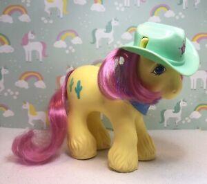 My Little Pony Vintage G1 Hasbro Bb Big Brother Tex W Cowboy Hat Bandana Ebay