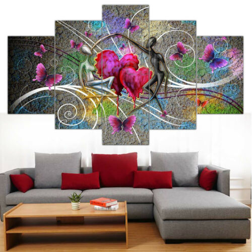 5pcs//Set Unframed Modern Oil Painting Print Canvas Picture Home Wall Room Decor