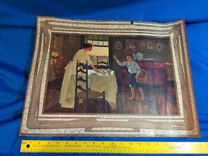1912-Fletcher-C-Ransom-Art-Painting-Print-His-First-Dollar-Antique-VTG-Rare