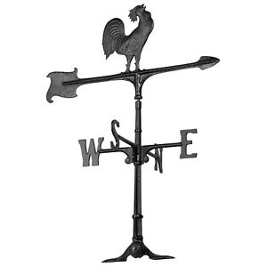 30-034-Rooster-Accent-Weathervane-Black