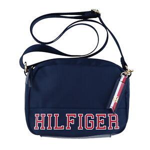 7b5057df2 Details about Tommy Hilfiger Womens Crossbody Purse Nylon Shoulder Bag Logo  Charm Zip Nwt New