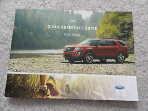 ford explorer quick reference guide owners manual